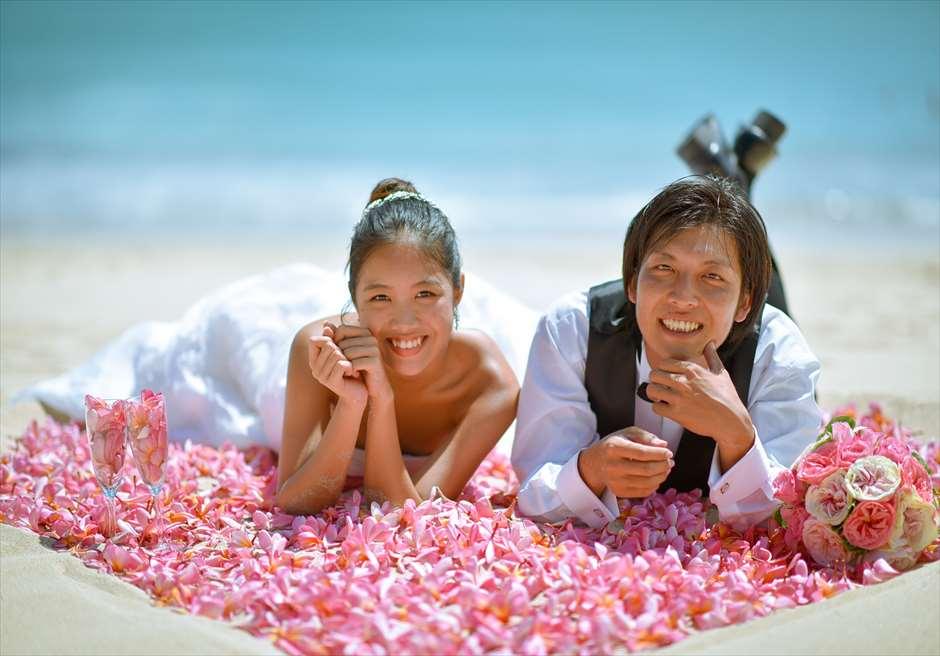 Keraton Jimbaran Resort&Spa<br /> クラトン・ジンバラン・リゾート&スパ<br /> 生花のハートサークル(生花¥19,800は別代金となります。)