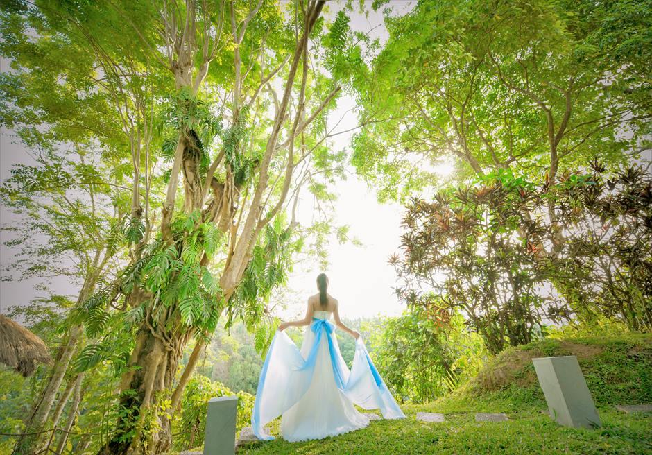 バリ島ウェディング・フォト【ランチ前撮影】/ ウブド地区 アリラ・ウブド(ガーデン)
