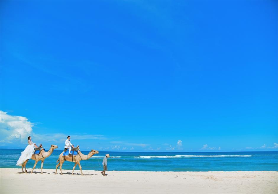 バリ島ウェディング・フォト【ビーチ】/ ラクダ・キャメル・ライディング