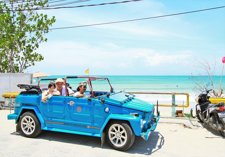 バリ島ウェディング・フォト【オープンカー】/ ジンバラン地区 シーサイドロード