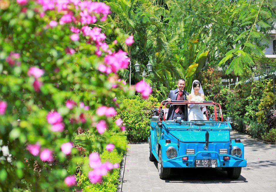 バリ島ウェディング・フォト【オープンカー】/ スミニャック地区 ガーデン