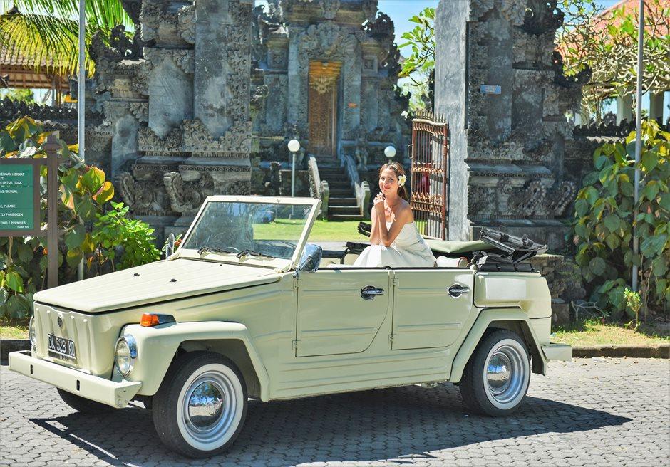 バリ島ウェディング・フォト【オープンカー】/ ヌサドゥア地区 寺院