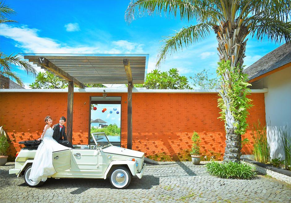 バリ島ウェディング・フォト【オープンカー】/ ヌサドゥア地区 シャンティ・レジデンス