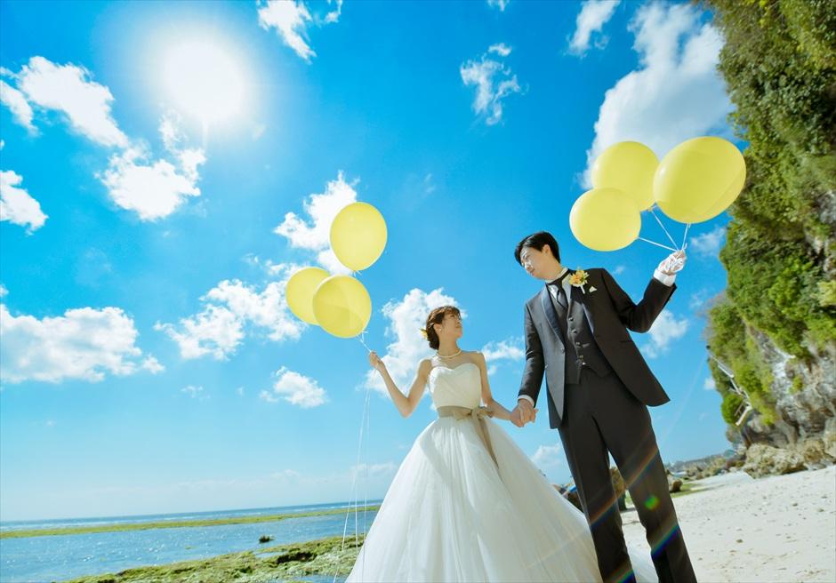 バリ島ウェディング・フォト・オプション/ バルーン・リリース12個 各色2色選択可/ ¥16,000