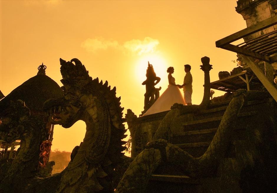 バリ島ウェディング・フォト【寺院】/ ヒンドゥー教寺院 サンセットタイム