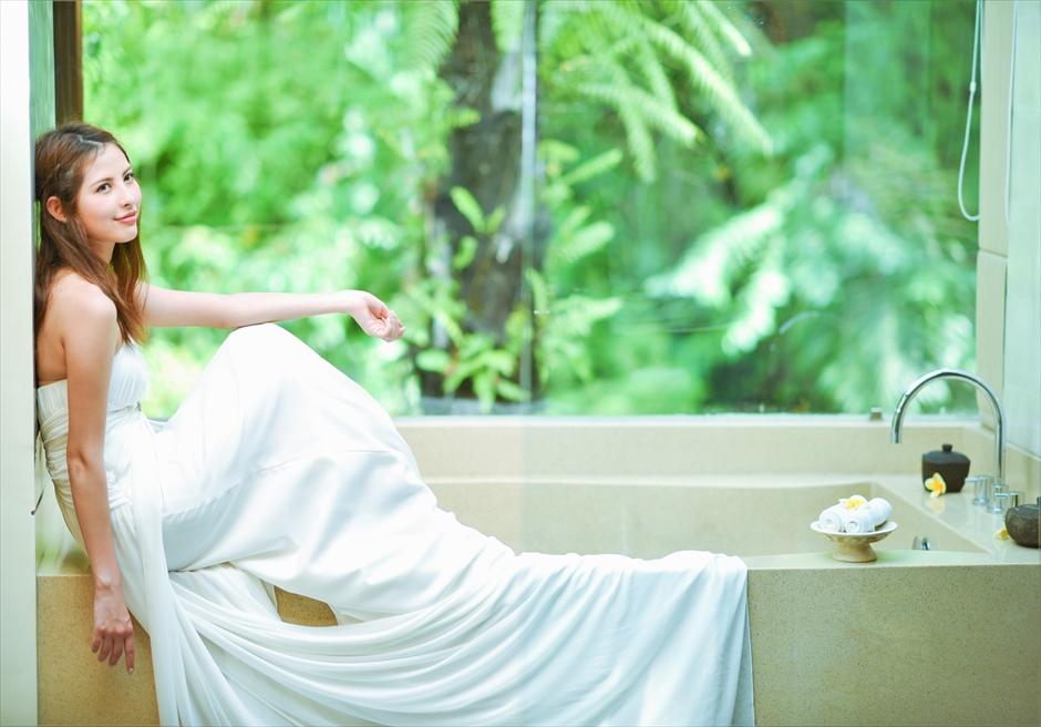 バリ島ウェディング・フォト【ウブド】/ カヨン・リゾート バスルーム