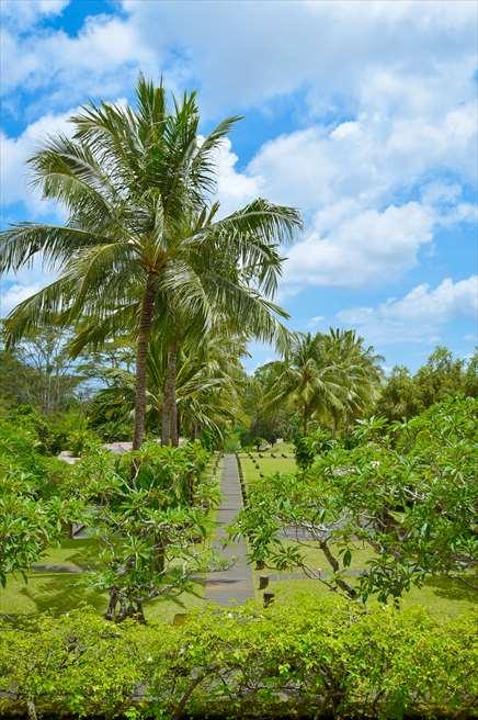マヤ・ウブド・リゾート&スパ<br /> ジャングルに囲まれた挙式会場への長い道