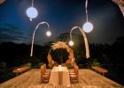ロータス・ポンド・ルーフトップ貸切ウェディング・パーティー サークル・アーチ装飾