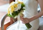 フォーシーズンズ・サヤン挙式生花のブーケ&ブートニア ホワイト&イエロー・ローズ使用例