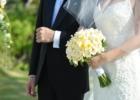 フォーシーズンズ・サヤン挙式生花のブーケ&ブートニア ホワイトプルメリア&ホワイトローズ使用例