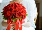 フォーシーズンズ・サヤン挙式生花のブーケ&ブートニア レッドローズ使用例