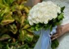 フォーシーズンズ・サヤン挙式生花のブーケ&ブートニア ホワイトローズ