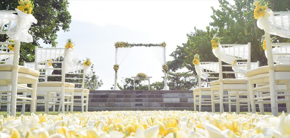 Presidential Villa Beachfront Garden Wedding