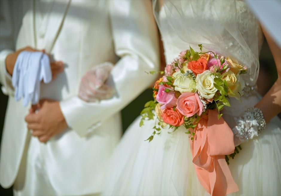プレジデンシャルスイートヴィラ ビーチフロント・ガーデンウェディング ラスティック・スタイル基本装飾 生花ブーケ