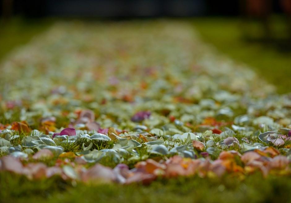 プレジデンシャルスイートヴィラ ビーチフロント・ガーデンウェディング ラスティック・スタイル基本装飾 生花フルフラワー