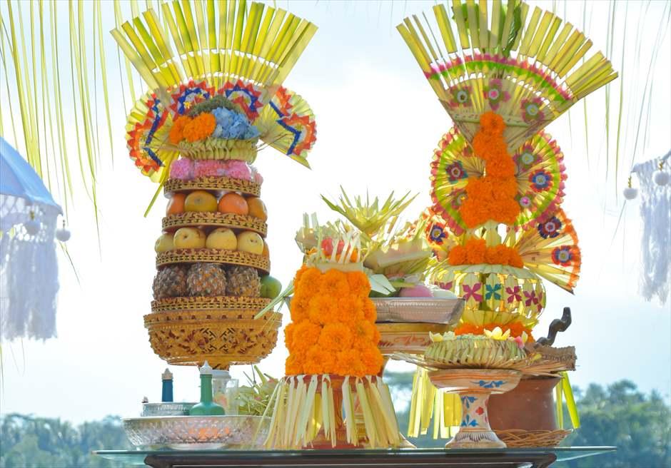 クプ・クプ・バロン・ウブド| バリニーズ・ウェディング 基本装飾| 祭壇装飾 お供え物
