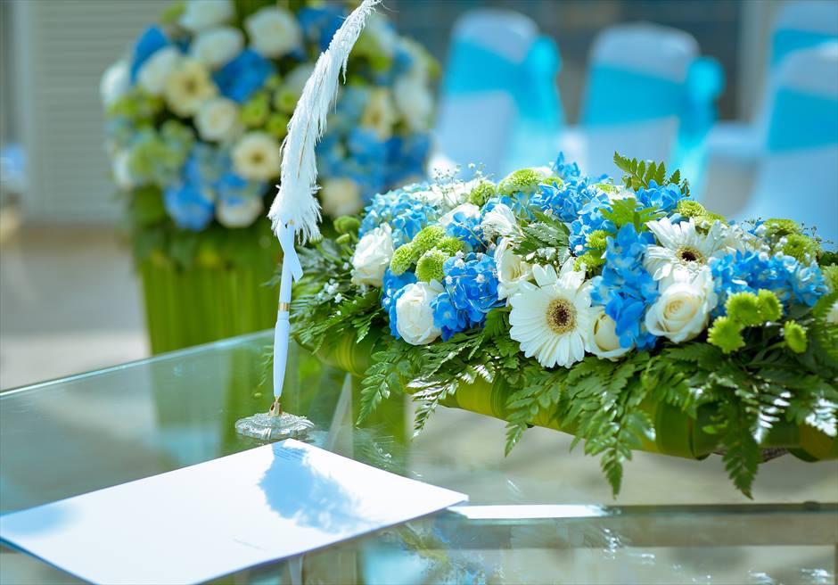 ル・メリディアン・ジンバラン・バリ セレブレーション・パビリオン 生花の祭壇装飾