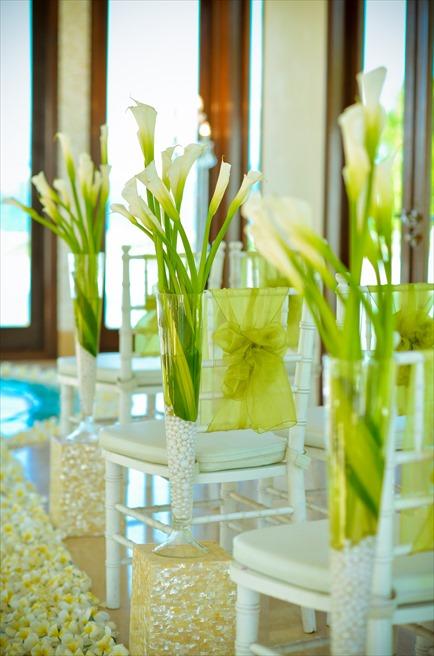 セント・レジス・バリ クラウド・ナイン・チャペルウェディング 生花の会場装飾