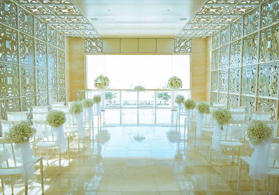 ザ・ムリア・バリ| ハーモニー・チャペル・オールホワイト・ウェディング| 挙式会場 基本装飾