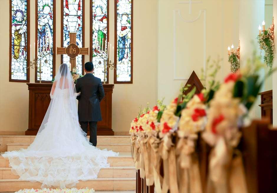 サント・ミカエル教会 挙式シーン