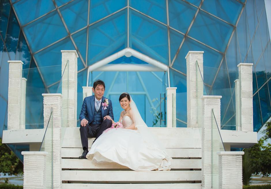 インナ・グランド・バリ・ビーチ・ホテルダイアモンド・チャペル白亜の回廊にてフォトウェディング