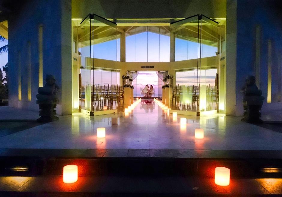 ビーチフロント・チャペル・サンセット・ウェディング<br /> オーシャンフロントガゼボ<br /> ロマンティックディナー