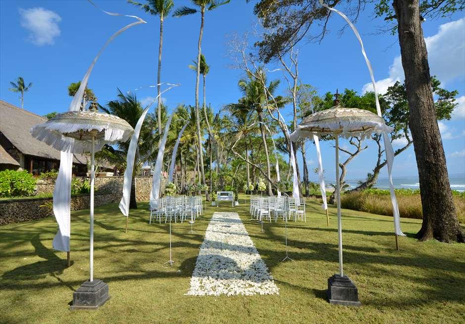 ジ・オベロイ・バリ  ガーデン・バイ・ザ・シー ガーデンウェディング基本装飾全景