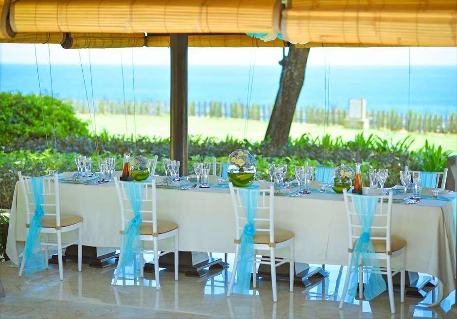 ブレス・バリ・オリジナル オール・ブルー・イン・アスティナ・チャペル<br /> ウェディング・ディナーパーティー会場(サミ・サミ・レストラン)