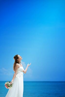 ベルモンド・ジンバラン・プリ・バリジンバランビーチ真っ青な海と空