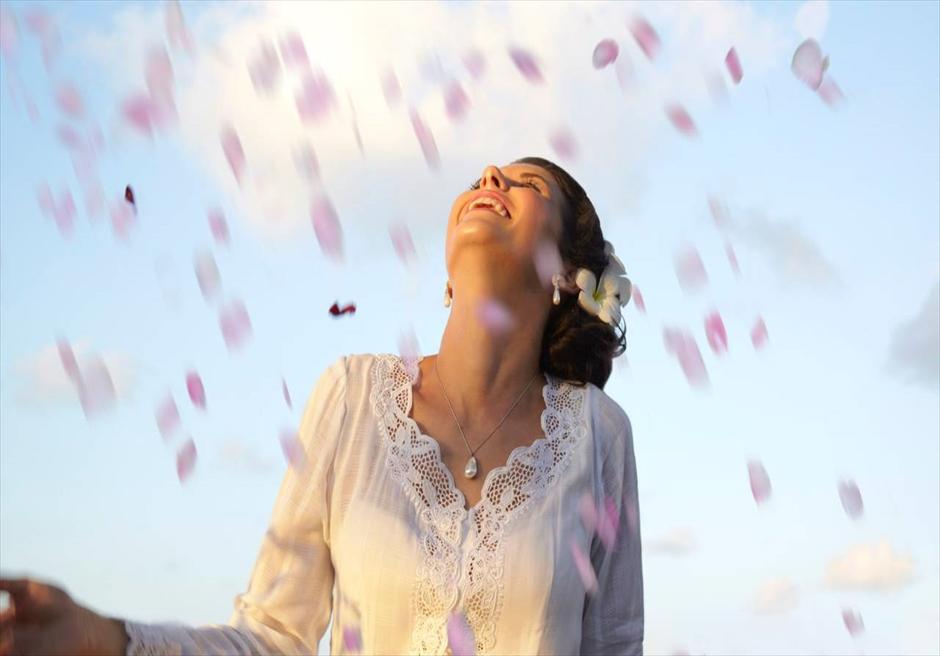 生花のフラワーシャワー