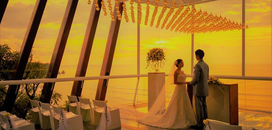 BLESS BALI Original Dewa Dewi Chapel Sunset Wedding