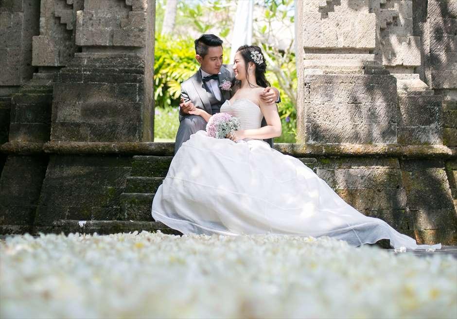 アヤナ・リゾート&スパ・バリ結婚式 バレ・クンチャナ・フォト・ウェディング 挙式後撮影