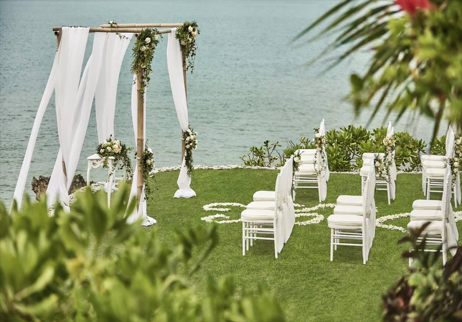 フォーシーズンズ・ジンバラン・バリ結婚式 ギリ・ジンバラン挙式会場 ガーデンウェディング