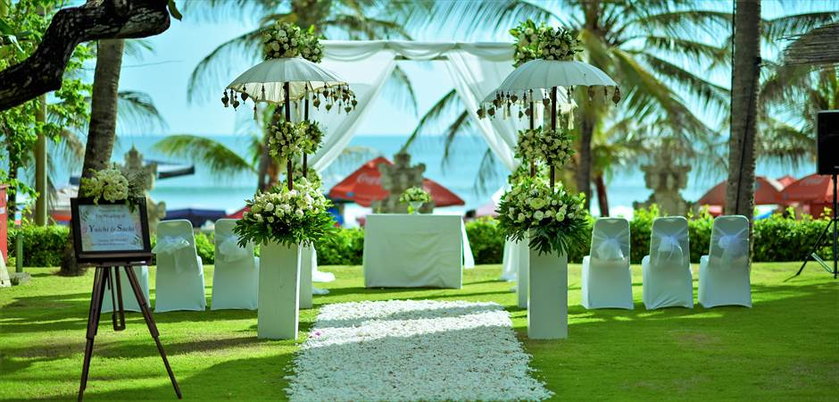 Beachfront Garden Wedding