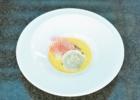 コンラッド・ウェディングコースⅠ温前菜 マッシュルームのラビオリ・サフランクリームソース