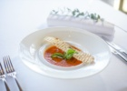 コンラッド・ウェディングコースⅡスープ ローストトマトスープ・ガーリッククルトン