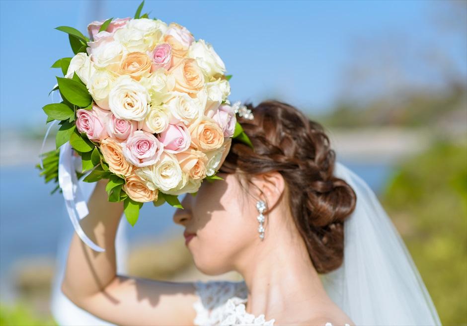 ギリ・ジンバラン・ガーデン・ウェディング 生花のブーケ&ブートニア 7種類より選択可(下記オプション参照)