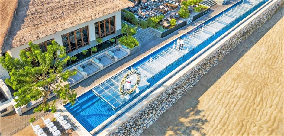 Pool Terrace Water WeddingSundara Pool Water Wedding