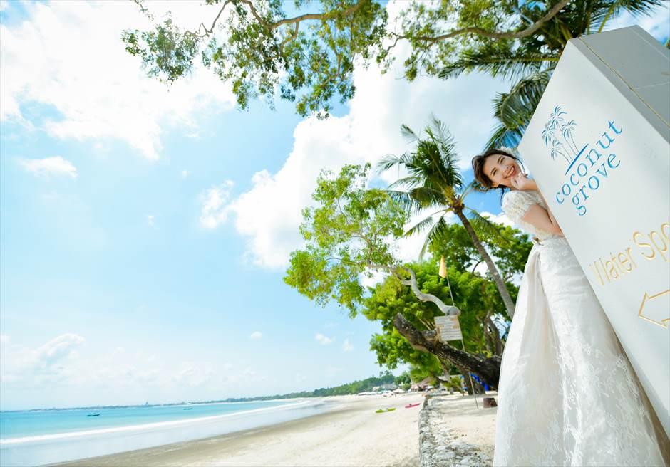 フォーシーズンズ・バリ・ジンバラン結婚式 ビーチ・フォトウェディング