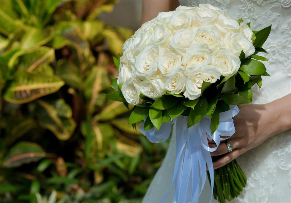 インペリアル・ヴィラ・ウェディング 生花のブーケ&ブートニア 7種類より選択可(下記オプション参照)