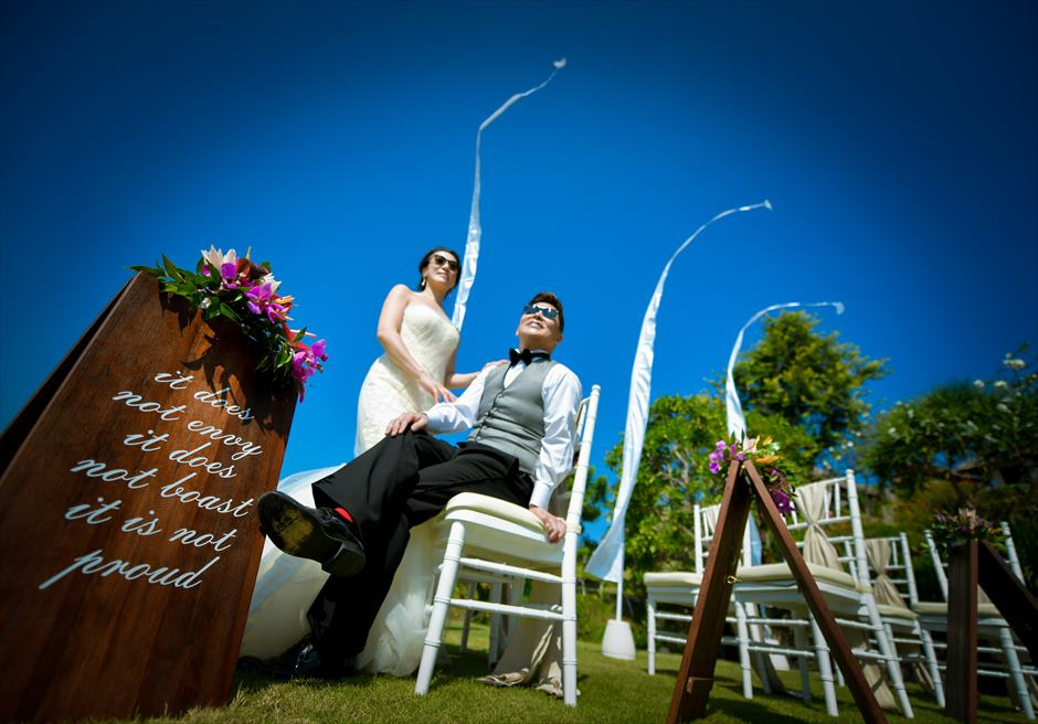 フォーシーズンズ・ジンバラン・バリ結婚式 挙式後フォトウェディング
