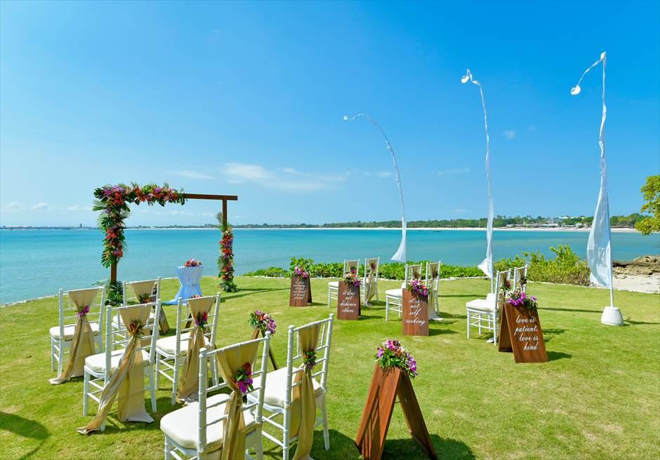 フォーシーズンズ・ジンバラン・バリ結婚式 ガーデン・ウェディング ギリ・ジンバラン挙式会場