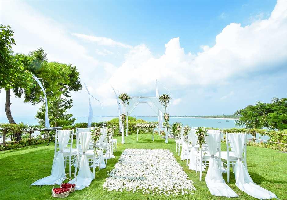 フォーシーズンズ・リゾート・ジンバラン・ウェディング ジンバラン・ガーデン挙式会場 ガーデン挙式