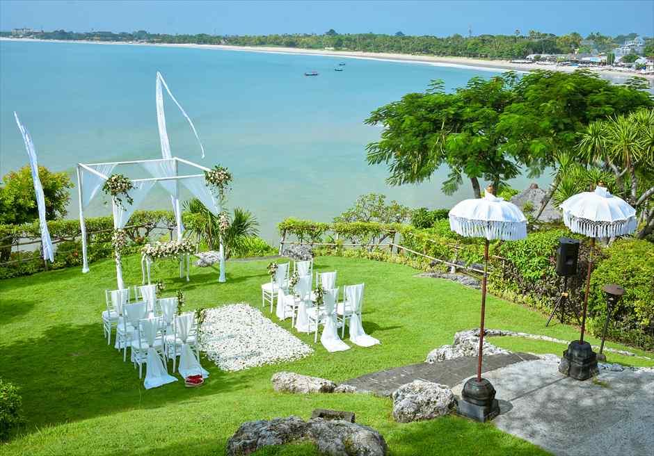 フォーシーズンズ・リゾート・ジンバラン結婚式 ジンバラン・ガーデン挙式会場 ガーデン・ウェディング