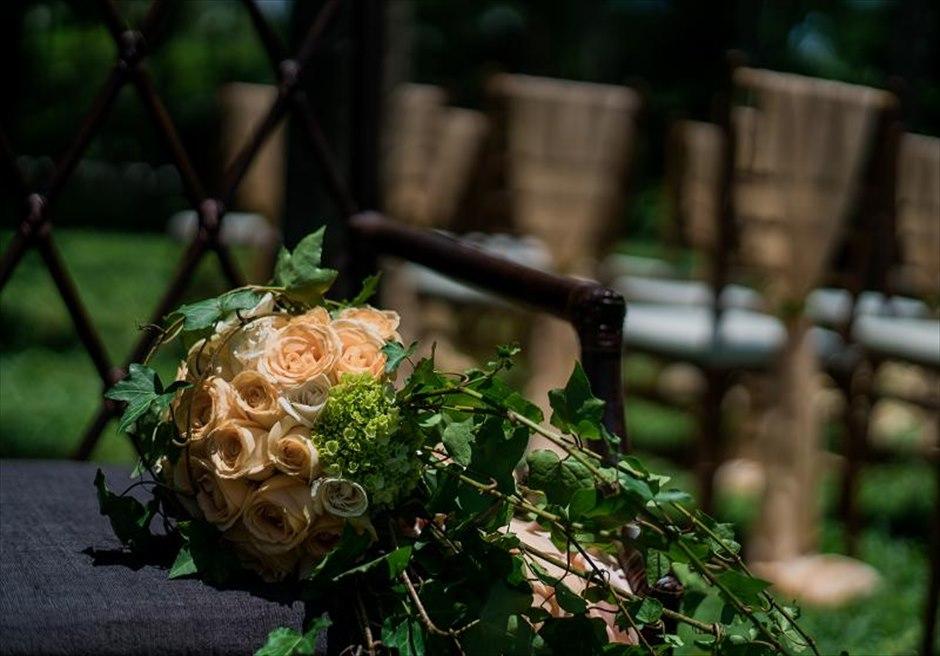 カユマニス・ヌサドゥア挙式 グリーン・パティオ ガーデン・ウェディング 生花ブーケ&ブートニア
