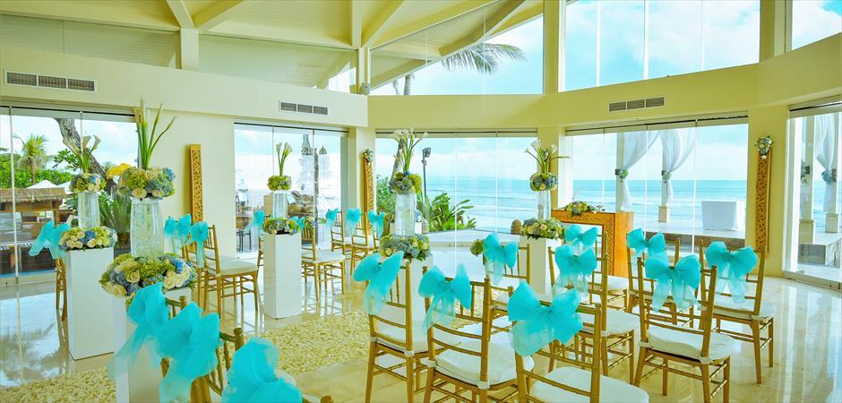 Upgrade Chapel Blue Decoration Wedding
