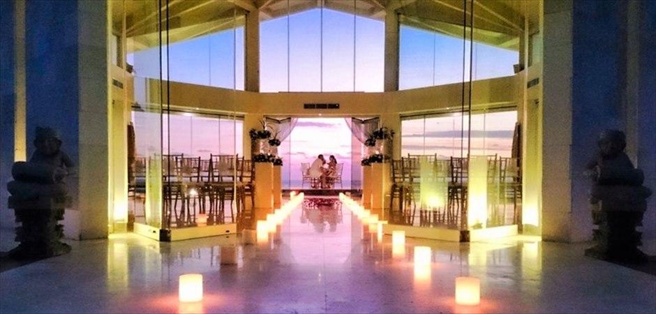 Beachfront Chapel Sunset Wedding