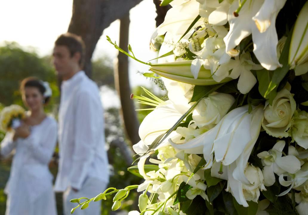 フォーシーズンズ・リゾート・バリ・アット・ジンバランベイ<br /> ガーデンウェディング会場:ギリ・ジンバラン挙式風景