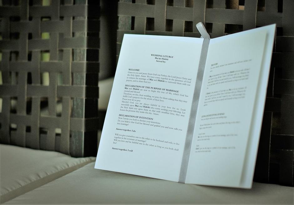 ブルガリ リゾート バリ チャペル・ウェディング ブルガリ・オリジナル式次第