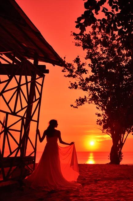 バリ島挙式 フォト・ウェディング ビーチ・サンセット